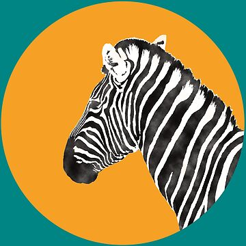 Zebra Art Watercolor T-Shirt by Juttas-Shirts