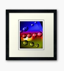 Droplets - 6 (Blue, Red and Yellow) Framed Print