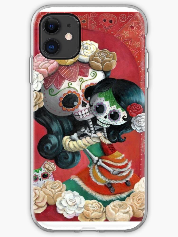 Dia de Los Muertos Couple of Skeleton Lovers iPhone 11 case