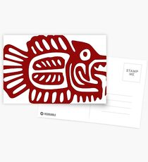 Abstract Red Fish Postcards