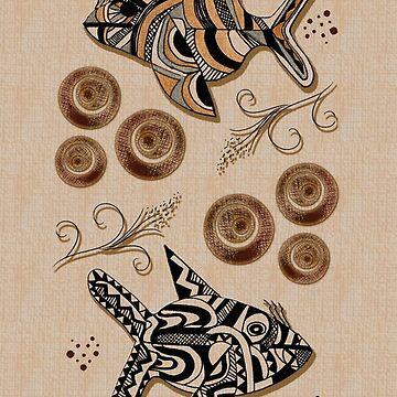 Tapia Fish Motif by MomsBoxerShorts