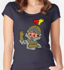 Retro cute Kid Billy as a Knight t-shirt Women's Fitted Scoop T-Shirt