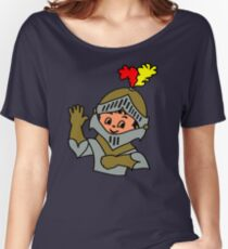 Retro cute Kid Billy as a Knight t-shirt Women's Relaxed Fit T-Shirt