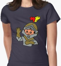 Retro cute Kid Billy as a Knight t-shirt Women's Fitted T-Shirt