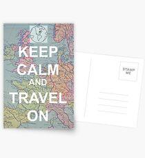 Postales Mantener la calma y viajar