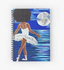 """Walking on Water"" Limited Edition Art Print - black art - black girl magic - Afro centric - African American Art  Spiral Notebook"