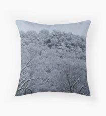 Snow Covered Mountain Throw Pillow