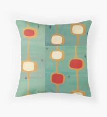 Mid Century Modern Delightful Swanky Squares and Stars Throw Pillow