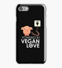 VeganChic ~ Powered By Vegan Love iPhone Case/Skin