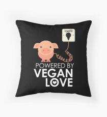 VeganChic ~ Powered By Vegan Love Throw Pillow