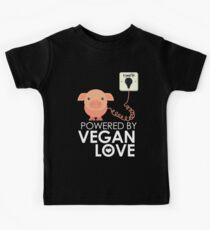 VeganChic ~ Powered By Vegan Love Kids T-Shirt