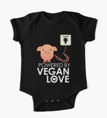 VeganChic ~ Powered By Vegan Love Short Sleeve Baby One-Piece
