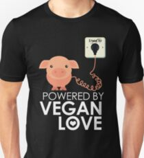VeganChic ~ Powered By Vegan Love Unisex T-Shirt