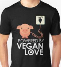 VeganChic ~ Powered By Vegan Love Slim Fit T-Shirt