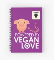 VeganChic ~ Powered By Vegan Love Spiral Notebook