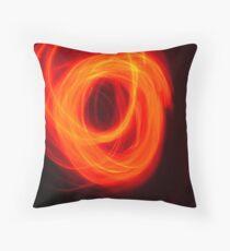 Orange Overlap Throw Pillow