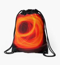Orange Overlap Drawstring Bag