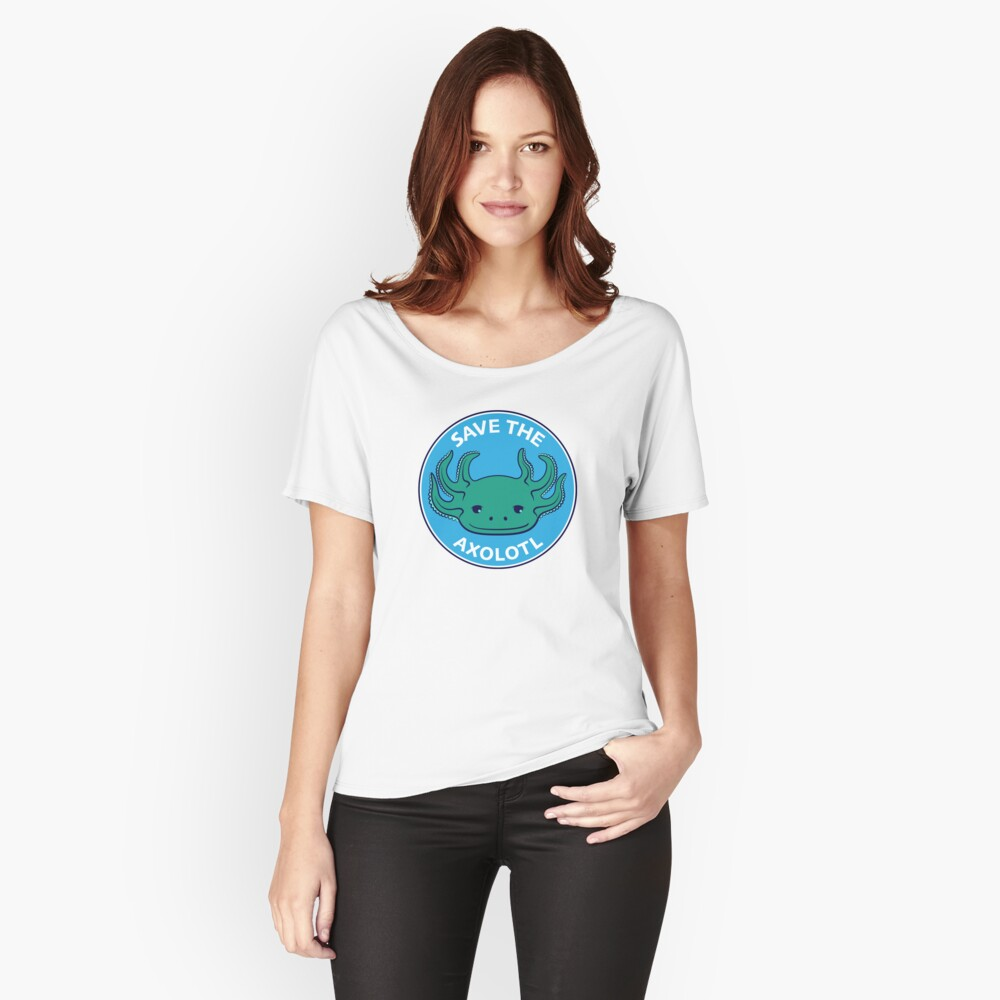 Save the Axolotl Relaxed Fit T-Shirt