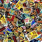Vintage Sci-fi & Horror Movie Poster Collage by Rockett Graphics