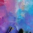 Pastel Paint Palette with Brushes  by Erica Kilbourn