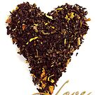 Tea Shaped Heart Valentine by Pamela Maxwell