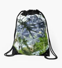 blue flower #2 Drawstring Bag