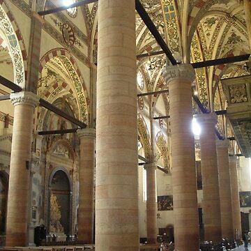 Sant'Anastasia Church Interior Pillars by lezvee