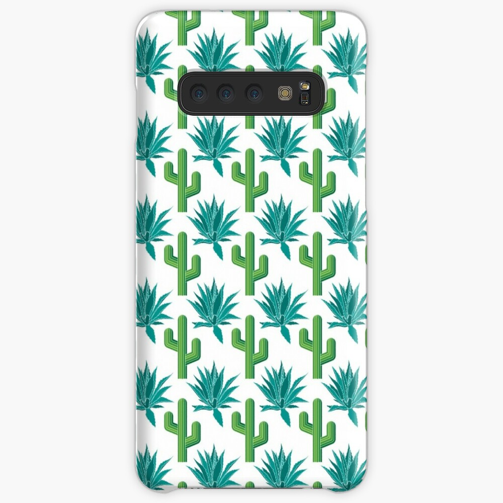 Cactus & Agave Pattern - White Samsung Galaxy Snap Case
