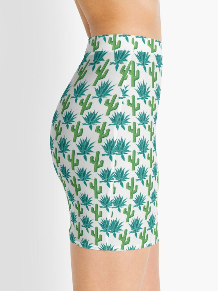 Alternate view of Cactus & Agave Pattern - White Mini Skirt