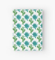Cactus & Agave Pattern - White Hardcover Journal