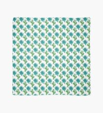 Cactus & Agave Pattern - White Scarf