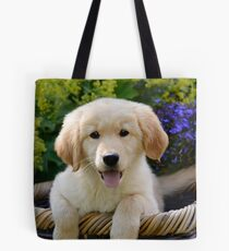 Charming Goldie Puppy Tote Bag