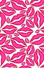 Pink Lips Pattern by LaRoach