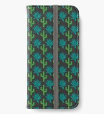 Cactus & Agave Pattern - Dark iPhone Wallet/Case/Skin