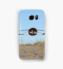 barrier on the road to heaven Samsung Galaxy Case/Skin
