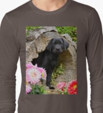 Lab puppy playing hide and seek T-Shirt