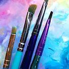 Rainbow Art Supplies by Erica Kilbourn