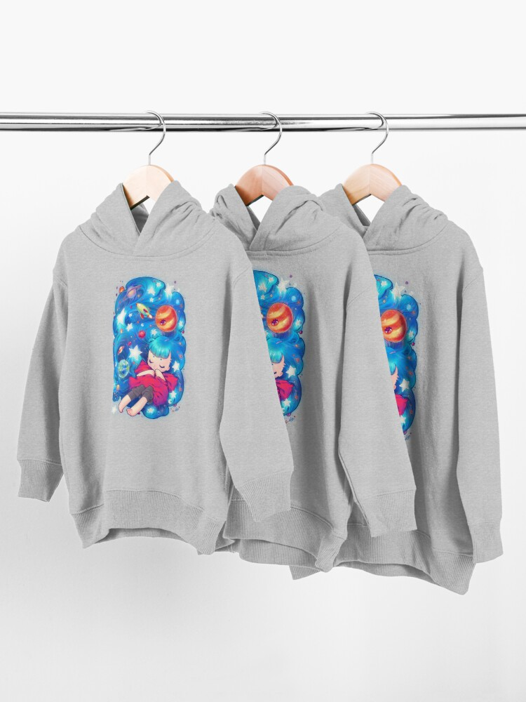 Alternate view of space Toddler Pullover Hoodie