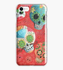 Colourful Sugar Skulls iPhone Case/Skin