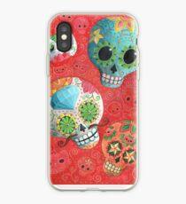 Colourful Sugar Skulls iPhone Case