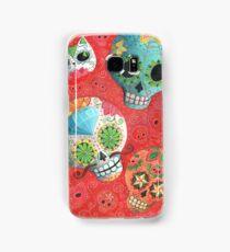 Colourful Sugar Skulls Samsung Galaxy Case/Skin