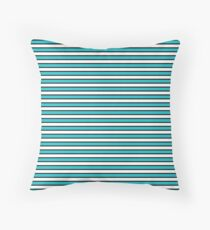 Stripes - Black, Teal, and Grey Floor Pillow
