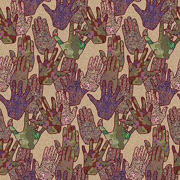 Give Me 5 [Hand Prints], Tan by Missman