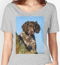 """""""I`m gorgerous"""", German Spaniel puppy Women's Relaxed Fit T-Shirt"""