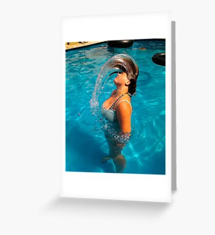 Fun In The Pool  Greeting Card