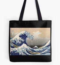 """Die große Welle vor Kanagawa"" von Katsushika Hokusai (Reproduktion) Tote Bag"