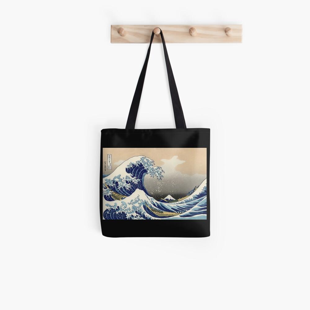 """""""Die große Welle vor Kanagawa"""" von Katsushika Hokusai (Reproduktion) Stofftasche"""