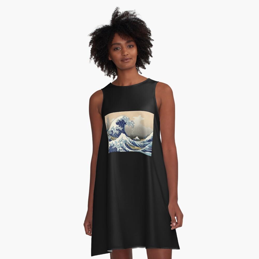 """""""Die große Welle vor Kanagawa"""" von Katsushika Hokusai (Reproduktion) A-Linien Kleid"""