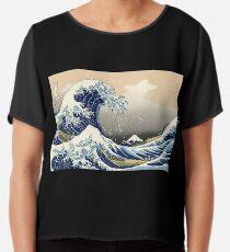 """Die große Welle vor Kanagawa"" von Katsushika Hokusai (Reproduktion) Chiffontop"