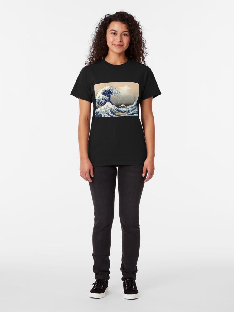 """Alternative Ansicht von """"Die große Welle vor Kanagawa"""" von Katsushika Hokusai (Reproduktion) Classic T-Shirt"""